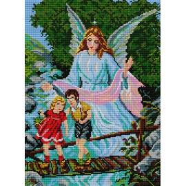 Haft krzyżykowy - obrazek Anioł Stróż (No 5082)