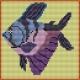 Haft krzyżykowy - do wyboru: kanwa z nadrukiem, nici Ariadna/DMC, wzór graficzny - Rybka (No 574)