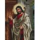 Haft krzyżykowy - do wyboru: kanwa z nadrukiem, nici Ariadna/DMC, wzór graficzny - Jezus u drzwi (No 94211) VI