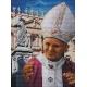 Haft krzyżykowy - do wyboru: kanwa z nadrukiem, nici Ariadna/DMC, wzór graficzny - Papież - Jan Paweł II (No 7039)