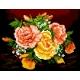 Haft krzyżykowy - do wyboru: kanwa z nadrukiem, nici Ariadna/DMC, wzór graficzny - Bukiet kwiatów - róże (No 5329)