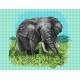 Haft krzyżykowy - do wyboru: kanwa z nadrukiem, nici Ariadna/DMC, wzór graficzny - Afryka - słoń (No 5328)
