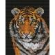 Haft krzyżykowy - do wyboru: kanwa z nadrukiem, nici Ariadna/DMC, wzór graficzny - Tygrys (No 9444) VI