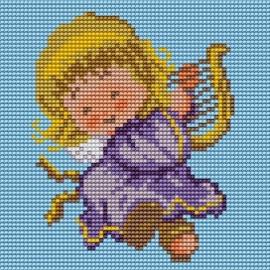 Obrazek do haftu dla dzieci - Uśmiechnięty Aniołek (No 5507)