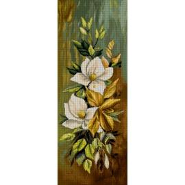 Haft krzyżykowy - do wyboru: kanwa z nadrukiem, nici Ariadna/DMC, wzór graficzny - Kompozycja kwiatów (No 7290)