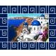 Haft krzyżykowy - do wyboru: kanwa z nadrukiem, nici Ariadna/DMC, wzór graficzny - Grecja (No 7281)