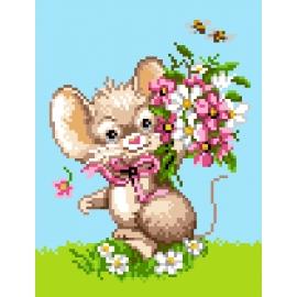 Myszka z kwiatami (No 5730)