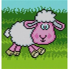 Obrazek do haftu dla dzieci - Owieczka (No 5512)