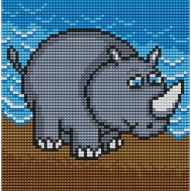 Obrazek do haftu dla dzieci - Nosorożec (No 5511)