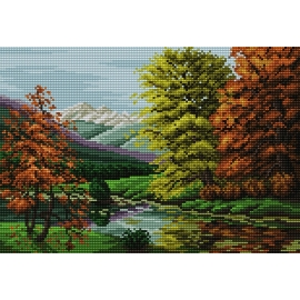 Wzór do haftu - Krajobraz jesienny (No 5304)
