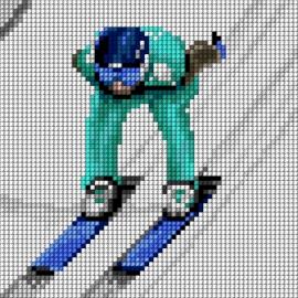 Skoki narciarskie - skoczek (No 5857)