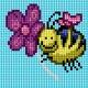 Obrazek do haftu dla dzieci - Pszczółka (No 5829)