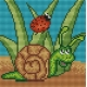 Obrazek do haftu dla dzieci - Ślimak (No 5545)