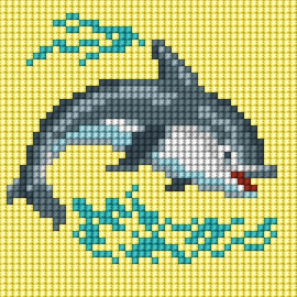 Obrazek do haftu dla dzieci - Delfin (No 5831)