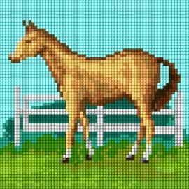 Haft krzyżykowy - do wyboru: kanwa z nadrukiem, nici Ariadna/DMC, wzór graficzny - Koń (No 5845)