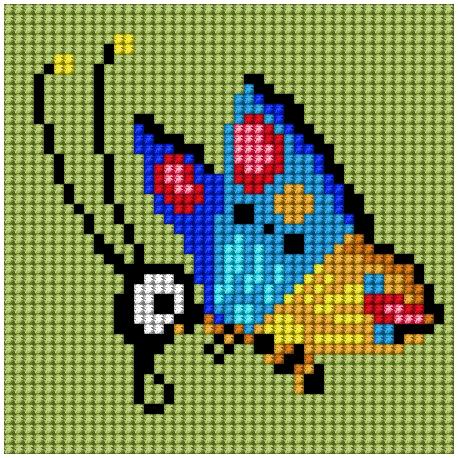 Obrazek do haftu dla dzieci - Motylek (No 5837)