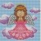 Haft krzyżykowy - do wyboru: kanwa z nadrukiem, nici Ariadna/DMC, wzór graficzny - Modlitwa Aniołka (No 5554)