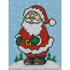 Haft krzyżykowy - do wyboru: kanwa z nadrukiem, nici Ariadna/DMC, wzór graficzny - Święty Mikołaj (No 5407)