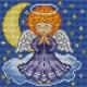 Kanwa z nadrukiem dla dzieci - Aniołek (No 5555)
