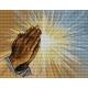 Haft krzyżykowy - do wyboru: kanwa z nadrukiem, nici Ariadna/DMC, wzór graficzny - Modlitwa - dłonie (No 5415) VI