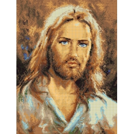 Haft krzyżykowy - do wyboru: kanwa z nadrukiem, nici Ariadna/DMC, wzór graficzny - Jezus Chrystus (No 7311) VI