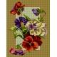 Haft krzyżykowy - do wyboru: kanwa z nadrukiem, nici Ariadna/DMC, wzór graficzny - Polne kwiaty - bratki (No 5875)
