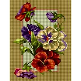 Polne kwiaty - bratki (No 5875)