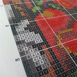 Wzór kolorowy na papierze: Róże (No 5420)