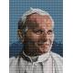 Haft krzyżykowy - do wyboru: kanwa z nadrukiem, nici Ariadna/DMC, wzór graficzny - Jan Paweł II (No 5416) VI