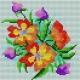 Haft krzyżykowy dla dzieci - Bukiet kwiatów (No 5224)