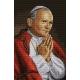 Haft krzyżykowy - do wyboru: kanwa z nadrukiem, nici Ariadna/DMC, wzór graficzny - Papież - Jan Pawel II (No 7070) VI