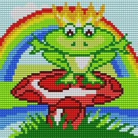 Kanwa do haftu krzyżykowego dla dzieci - Żabka (No 5596)