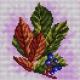 Haft krzyżykowy - do wyboru: kanwa z nadrukiem, nici Ariadna/DMC, wzór graficzny - Jesienny liść (No 5577)