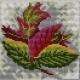 Haft krzyżykowy - do wyboru: kanwa z nadrukiem, nici Ariadna/DMC, wzór graficzny - Jesienne liście (No 5576)