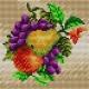 Haft krzyżykowy - do wyboru: kanwa z nadrukiem, nici Ariadna/DMC, wzór graficzny - Owoce (No 5582)