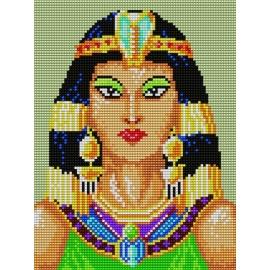 Haft krzyżykowy - do wyboru: kanwa z nadrukiem, nici Ariadna/DMC, wzór graficzny - Kleopatra (No 5232)