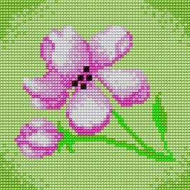 Haft krzyżykowy dla dzieci - Kwiatek (No 5253)