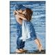 kanwa z nadrukiem calujace przytulajace sie dzieci wzor do haftu krzyzykowego