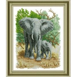 Zestaw do haftu krzyżykowego Słoń Afryka
