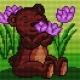 Miś z kwiatkiem (No 5620)