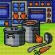 Haft krzyżykowy - do wyboru: kanwa z nadrukiem, nici Ariadna/DMC, wzór graficzny - Kuchnia (No 5624)