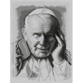 Obrazek do haftu krzyżykowego - kanwa z nadrukiem religijna- Jan Pawel II (No 7104)