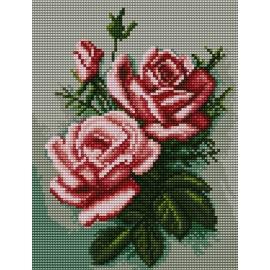 Haft krzyżykowy - do wyboru: kanwa z nadrukiem, nici Ariadna/DMC, wzór graficzny - Róże (No 5431)
