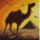 Haft krzyżykowy - do wyboru: kanwa z nadrukiem, nici Ariadna/DMC, wzór graficzny - Wielbłąd (No 7094)