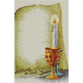 Haft krzyżykowy - do wyboru: kanwa z nadrukiem, nici Ariadna/DMC, wzór graficzny - Komunia Święta (No 5450)