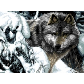 obrazek do haftu krzyżykiem - wilk