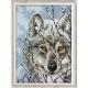 kanwa do haftu AIDA 14ct(54 oczka/10cm) z nadrukiem wilka - haft krzyżykowy