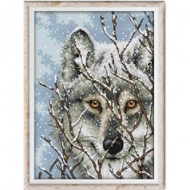 Haft krzyżykowy - Wilk - zestaw do haftu