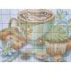 Haft krzyżykowy - Filiżanka kawy z ciasteczkami - wzór na papierze do haftu