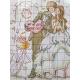 Haft krzyżykowy - Młoda para - wzór na papierze do haftu